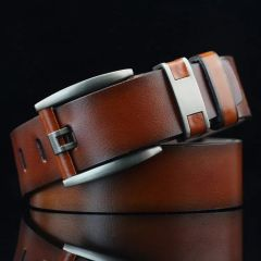 Stylish Casual Brown Artificial Leather Belt for Men's