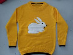 FASHION Full Sleeves Softfeel Acrylic Baby Kids Sweaters (Pack of 1) (Yellow)