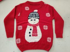 FASHION Full Sleeves Softfeel Acrylic Baby Kids Red Sweaters (Pack of 1)