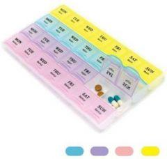 Medicine 1 week 28 Days Pill Tablet Case Box Storage (Multi-Color) (Pack of 1)