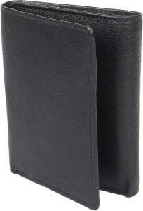 Men Black Genuine Leather RFID Wallet  (7 Card Slots) (Pack of 1)