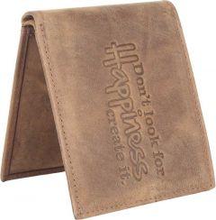 Men's Brown Genuine Leather RFID Wallet  (10 Card Slots)