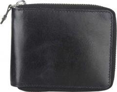 Men Black Genuine Leather RFID Wallet  (4 Card Slots)