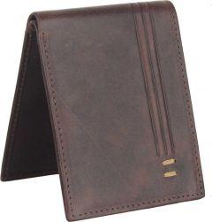 Men's Brown Genuine Leather RFID Wallet  (8 Card Slots)