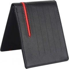 Men Black Genuine Leather RFID Wallet