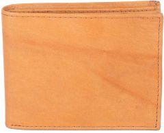 Men Brown Genuine Leather RFID Wallet(7 Card Slots)