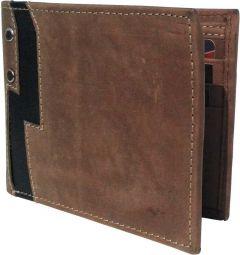 Men Brown Genuine Leather RFID Wallet  (6 Card Slots)