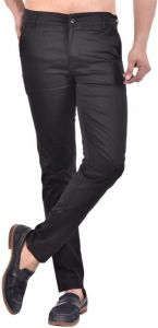 Regular Fit Fashionable Cotton Blend Trouser For Men (Black)