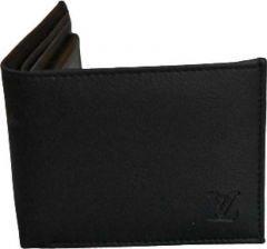 Men Black Artificial Leather Wallet  (5 Card Slots)