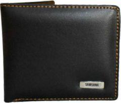 Men Black Artificial Leather Wallet  (2 Card Slots)