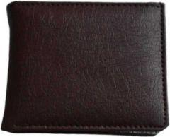 Men Brown Artificial Leather Wallet  (5 Card Slots)