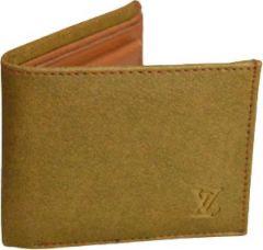 Men Tan Artificial Leather Wallet  (5 Card Slots)