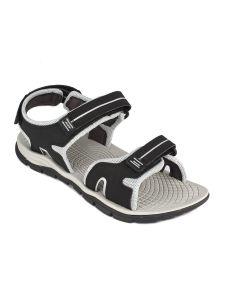 Furo Elegant Design, Eye-Catching Look & Casual Wear Sandals For Men - SM-124 (Black & Silver)
