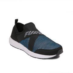 Furo Men's Attractive Design, Casual Wear Slip-on Walking Shoes - W-3012 (Black)
