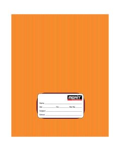 MERIT Note Book 3 Line 180 Pages (Pack Of 10) (Orange)