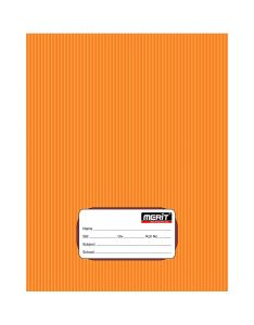 Merit King Size Note Book four Line 72 Pages (Pack Of 20) (Orange)