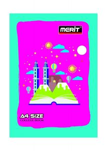 Merit A/4 College Long Note Book Unrulled 304 Pages (Pack Of 5)
