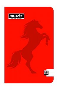 Merit F/S Long Note Book (Round Edge) Unrulled 72 Pages (Pack Of 20)