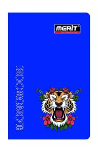 MERIT Hard Bond Long Note Book (Round Edge)Single Line 72 Pages (Pack Of 20)