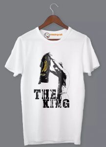 Frndmart Unique Stylish & Fashionable Messi the king Half Sleeve Printed T-Shirt For Men's (Color: White)