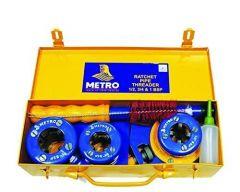 Metro Ratchet Pipe Threader Die Set 1/2, 3/4, 1 in Metal Tin Box (Pack of 1)