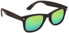 Trendy Mirrored, UV Protection Wayfarer Sunglasses For Men & Women (Green) (Pack Of 1)