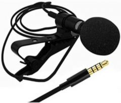FF_3.5mm Collar Microphone For Lapel Mic Mobile, PC, Laptop, Android Smartphones, DSLR Camera (Black)