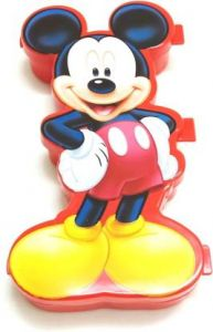 SKI Easy carry Mickey Mouse Art Plastic Pencil Box (Set of 1) (Red)