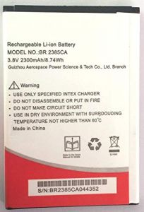 High-Quality 2300 mAh Rechargeable Mobile Battery Compatible For Intex Aqua Air BR 2385CA (Pack of 1)
