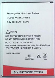 High-Quality 2500 mAh Rechargeable Mobile Battery Compatible For Intex Cloud Swift BR 2585BE (Pack of 1)
