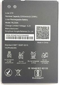 High-Quality 2250 mAh Rechargeable Mobile Battery Compatible For LYF Wind 6/Wind 7 RLC03A (Pack of 1)