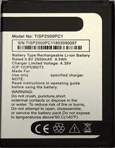 High Quality 2500 mAh Rechargeable Mobile Battery Compatible For Panasonic P-101 (Pack of 1)