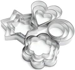 Aaradhya 12 Pieces Cookie Cutter Stainless Steel Cookie Cutter with Different Shape Ideal for Kitchen Use