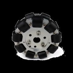 MohitEnterprises | Double Aluminum Omni Wheel (Bearing Type Roller) | 127Mm