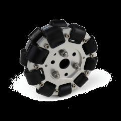 MohitEnterprises | Double Aluminum Omni Wheel Basic (Bush Type Roller) | 127Mm
