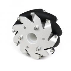 MohitEnterprises | Aluminum Mecanum Wheels (Bearing Type Rollers) Left | 100Mm