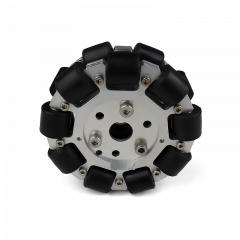 MohitEnterprises | Double Aluminium Omni Wheel (Bush Type Roller) | 100Mm