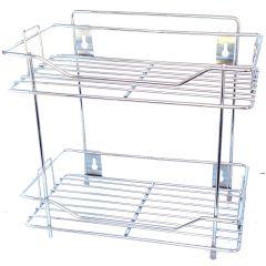 Vaishvi Multipurpose 2 Tier Kitchen Rack | Spice Shelf | Kitchen | Pantry Storage Organizer (Pack of 1)