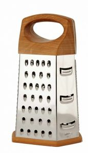 Stainless Steel Multy Slicer 6 Sided Grater and Slicer Wood Finish (Pack of 1)