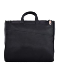 ASPENLEATHER Black Genuine Leather Travel Totes Bag