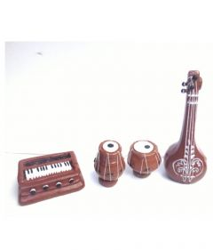 Simonart and Printing High-Quality Terracotta Handicraft Showpiece Musical Instrument (Multi-Color) (Pack of 1)