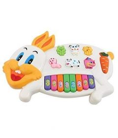 Rabbits Musical Piano With 3 Modes Animal Sounds, Flashing Lights & Wonderful Music (Pack Of 1)