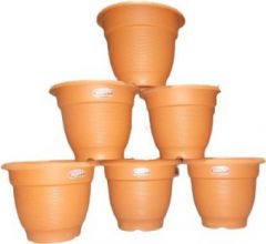 Plastic Plant Container Set MY 11 (Pack of 6 Container)
