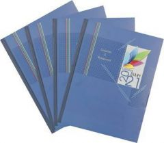 Toss 2021 B5 Diary Ruled 330 Pages For Girls, Boys & Friends (Blue) (Pack of 4)