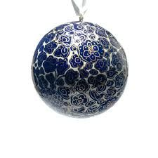 DehqaniandBros Hand Painted Paper Mache 3 Inch Ball for Hanging (Pack of 1)