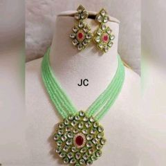 High-Quality Fancy And Adjustable Necklace & Earring Set With Gold Plated For Women's