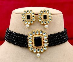 High-Quality Shimmering And Fancy Necklace & Earring Set With Gold Plated For Women's