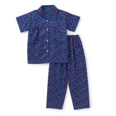 Ditsy Floral Print Half Sleeve Night Suit for Kids (Purple) (Pack of 1)