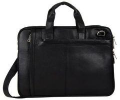 ASPENLEATHER Brown Genuine Leather Laptop Bag