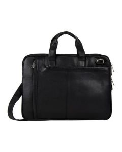 ASPENLEATHER Designer Genuine Leather Laptop Bag Stylish For Women (Black)